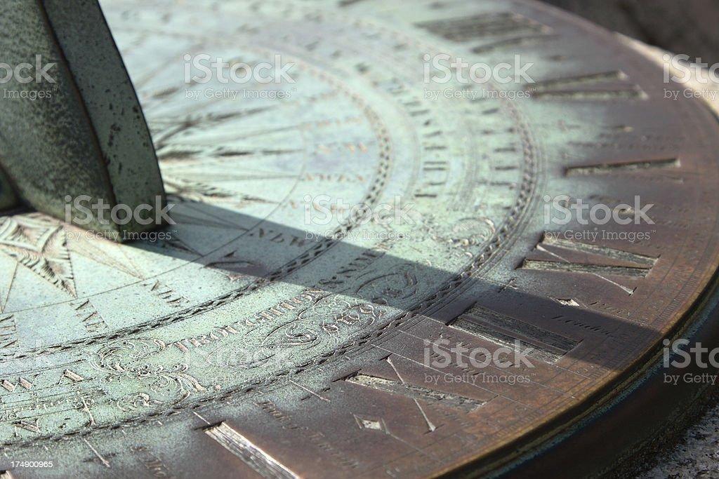 Ancient Sundial stock photo