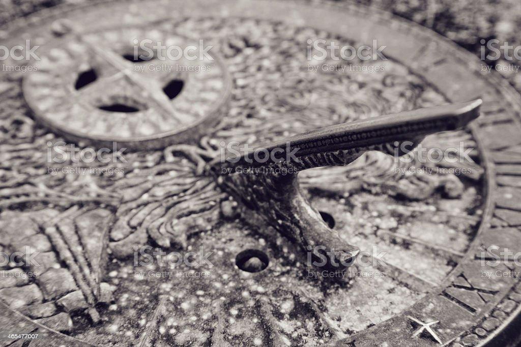 Ancient Sundial royalty-free stock photo