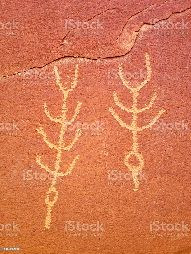 Ancient symbols stock photo