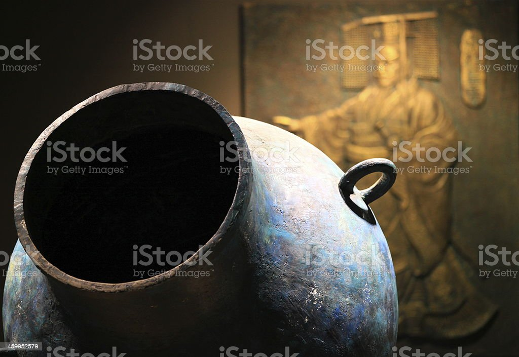 Ancient tang dynasty pot stock photo