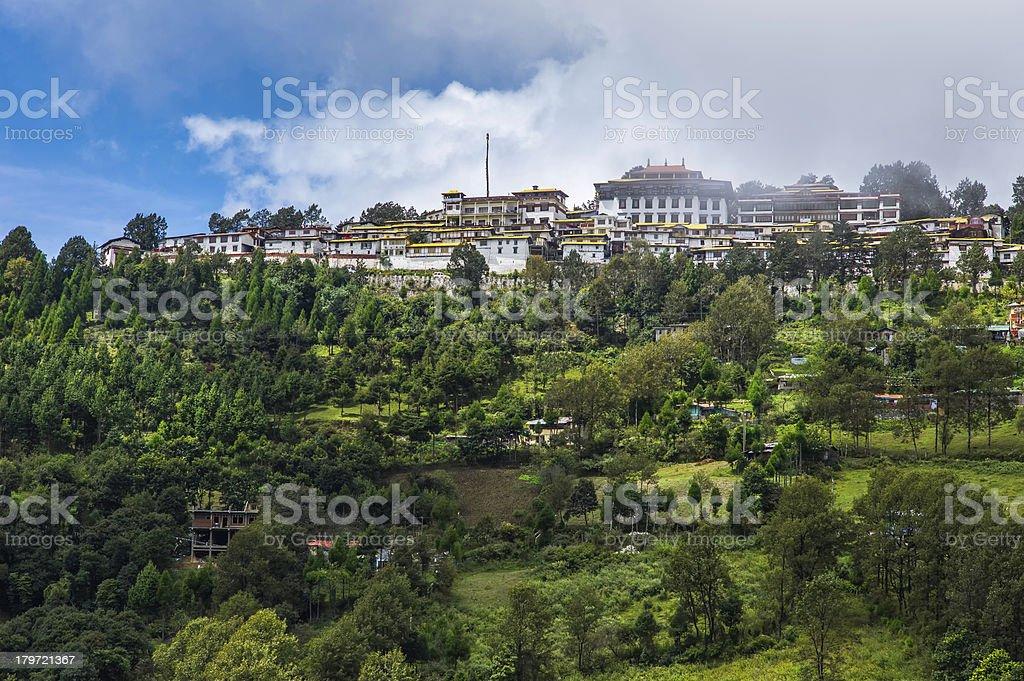 Ancient Tawang Monastery, western Arunachal Pradesh, India. stock photo