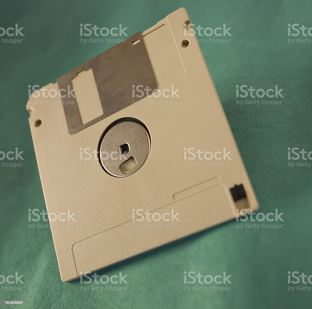 Ancient technology the computer floppy disc stock photo