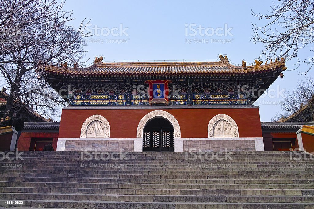 Ancient temple in Beihai park, Beijing royalty-free stock photo
