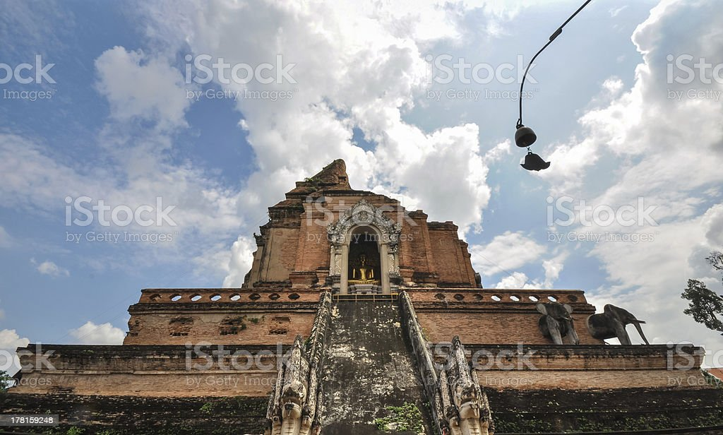 ancient temple in Chiang Mai, Thailand royalty-free stock photo
