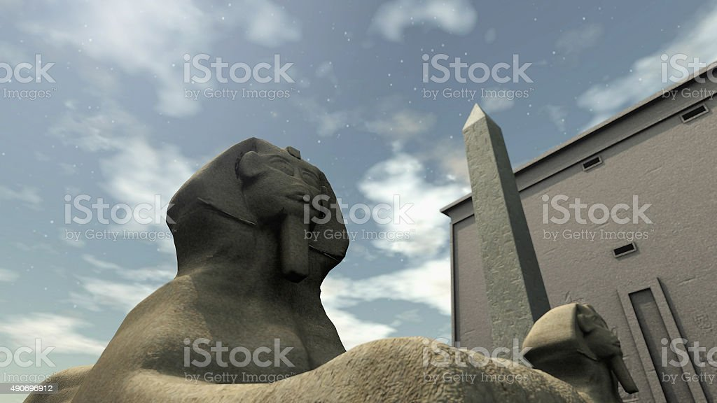 Ancient temple in Egypt stock photo