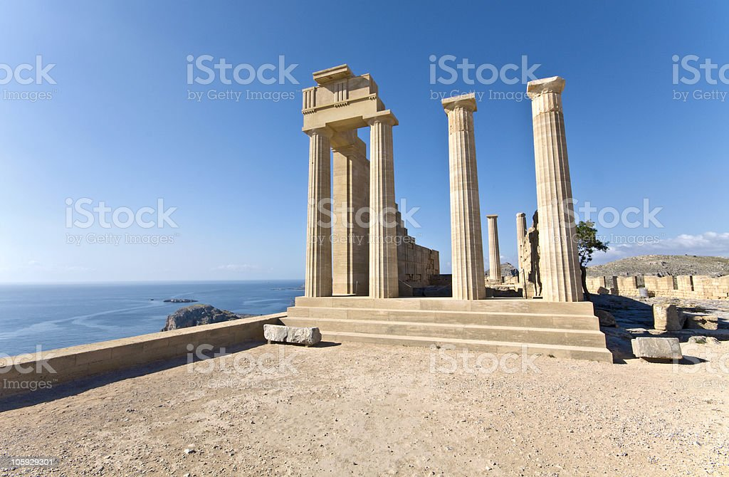 Ancient temple of Apollo at Rhodes, Greece royalty-free stock photo