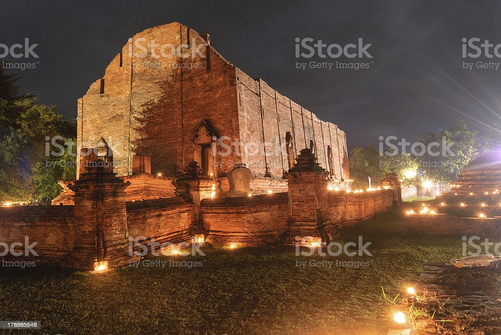 Ancient temple of Ayutthaya, Thailand royalty-free stock photo