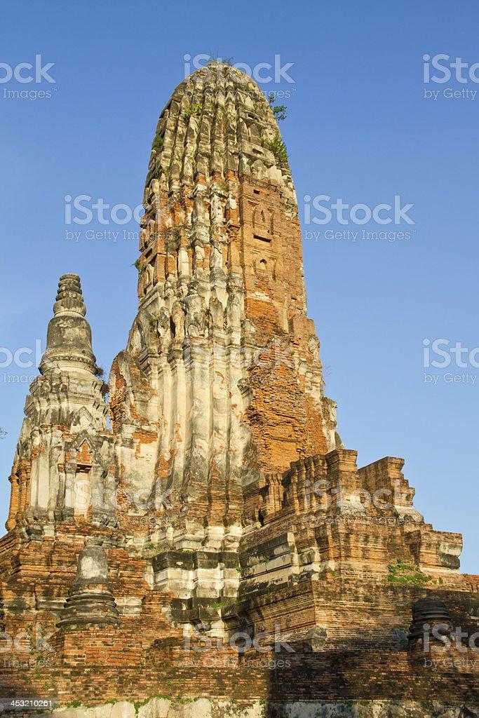 Ancient temple of Ayutthaya, Wat Phraram, Thailand royalty-free stock photo