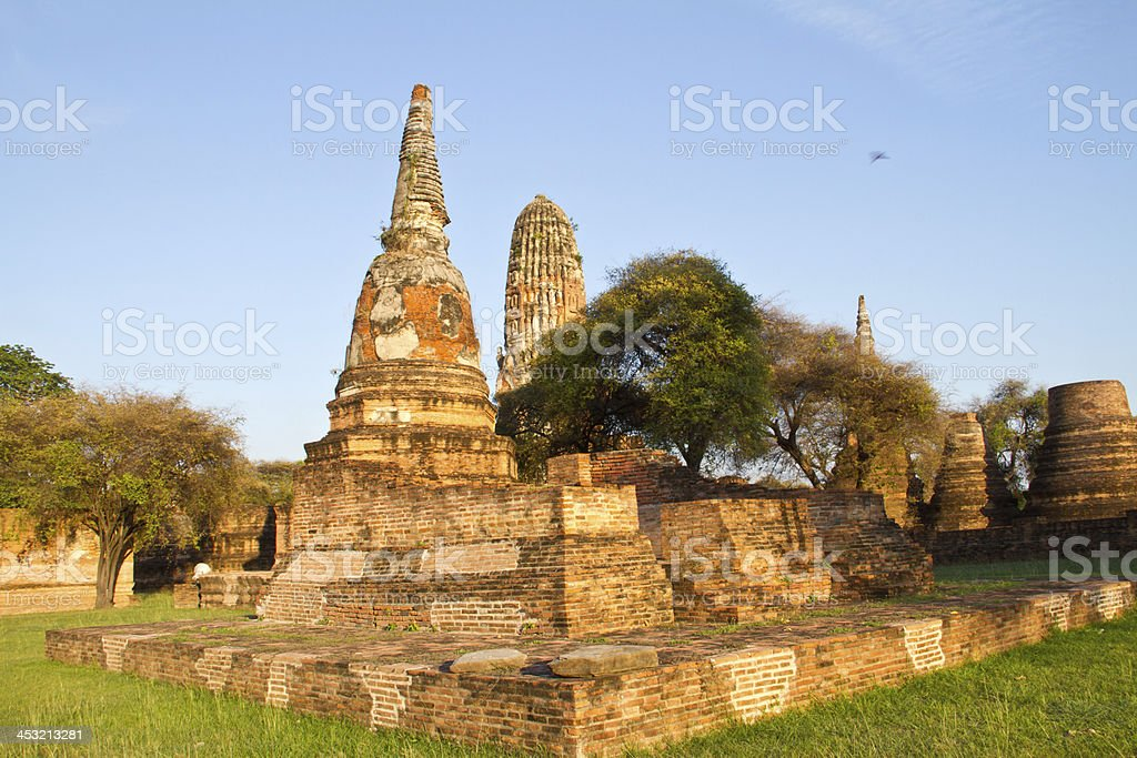 Ancient temple of Ayutthaya, Wat Phraram, Thailand royalty-free stock photo