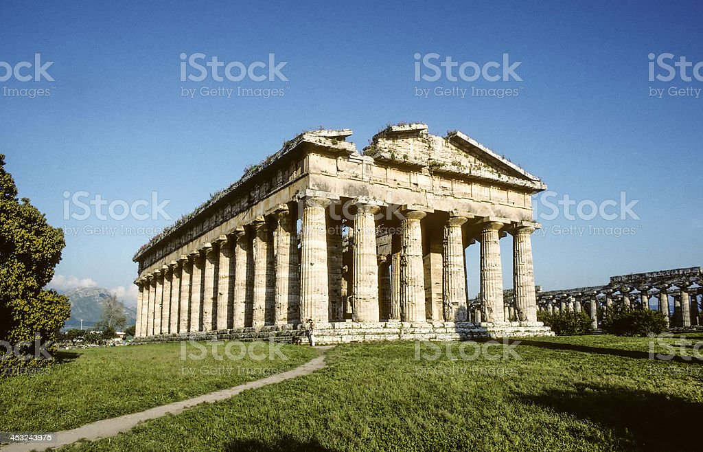 Ancient Temple of Hera built by Greek colonists royalty-free stock photo