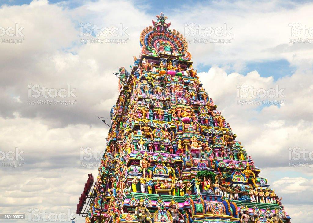 Ancient temple of Shiva, Kapaleeswarar, Chennai, India. stock photo