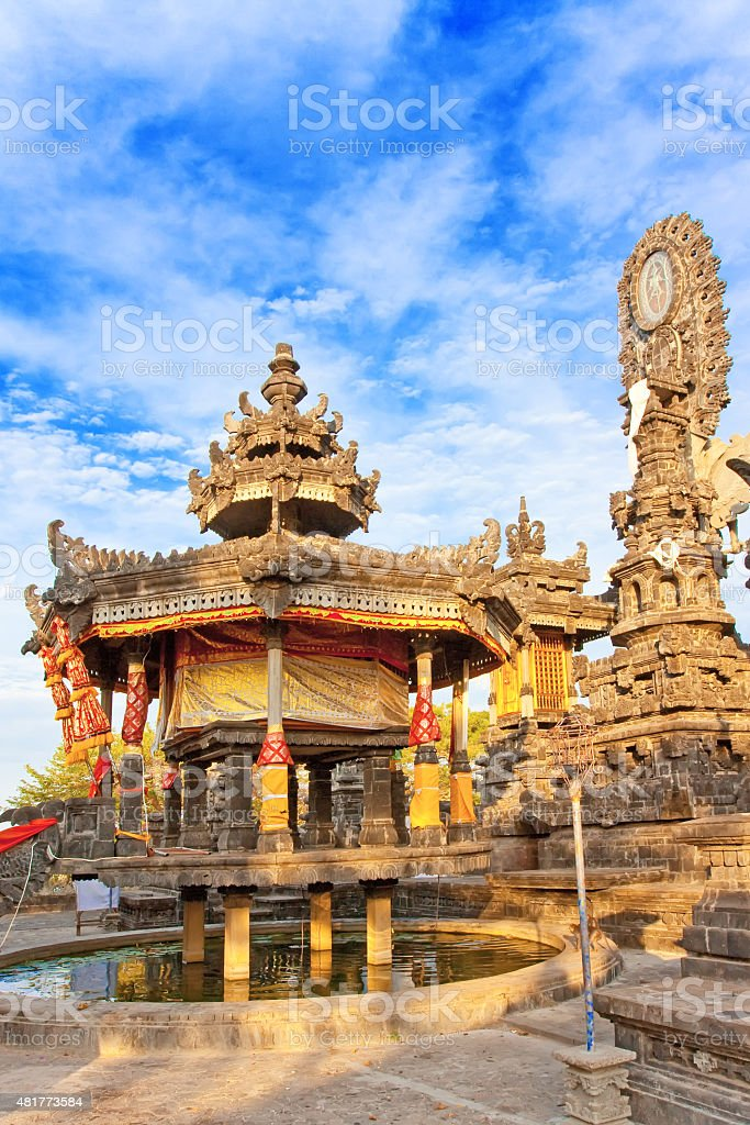 Ancient temple on a hill slope. Indonesia. Bali. stock photo