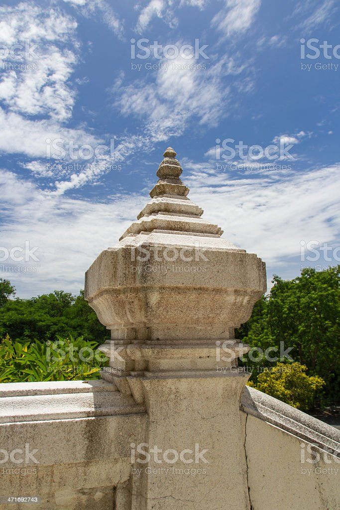 ancient temple post royalty-free stock photo