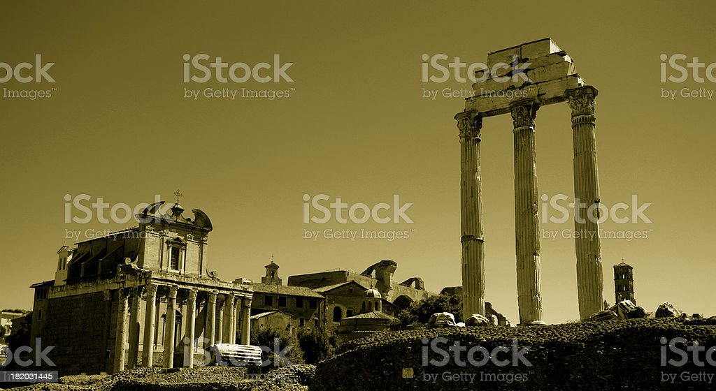 ancient temple, rome stock photo