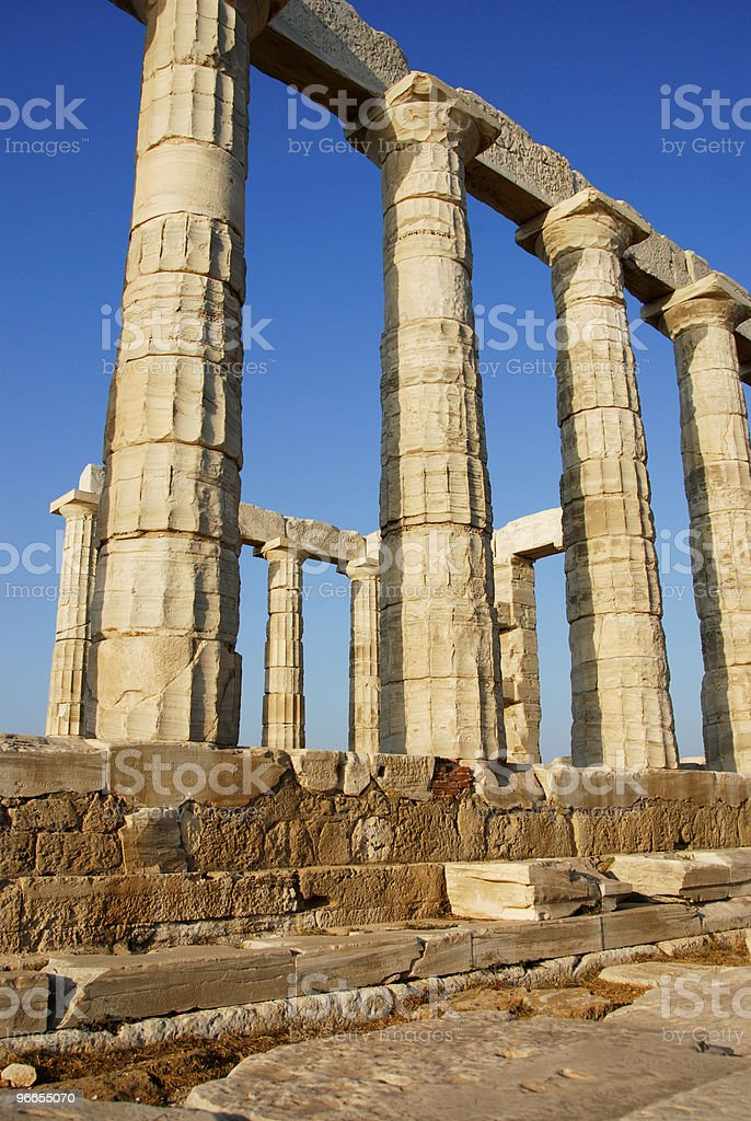 Ancient Temple ruins in Greece royalty-free stock photo