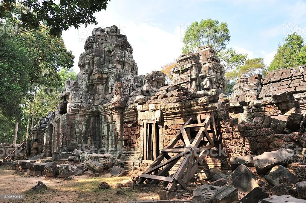 Ancient temple Ta Som in Siem reap stock photo