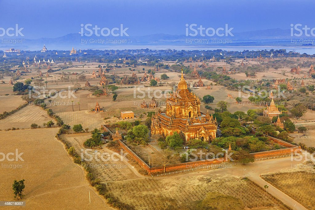 Ancient temples in Bagan, Myamar (Burma) royalty-free stock photo