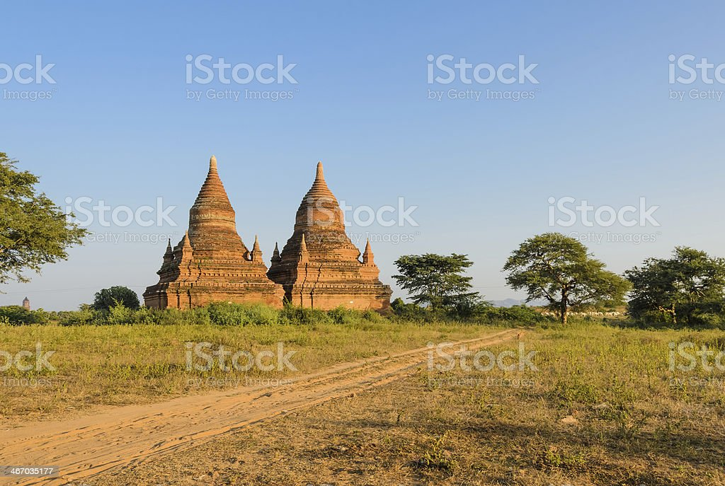 Ancient temples in Bagan, Myanmar royalty-free stock photo