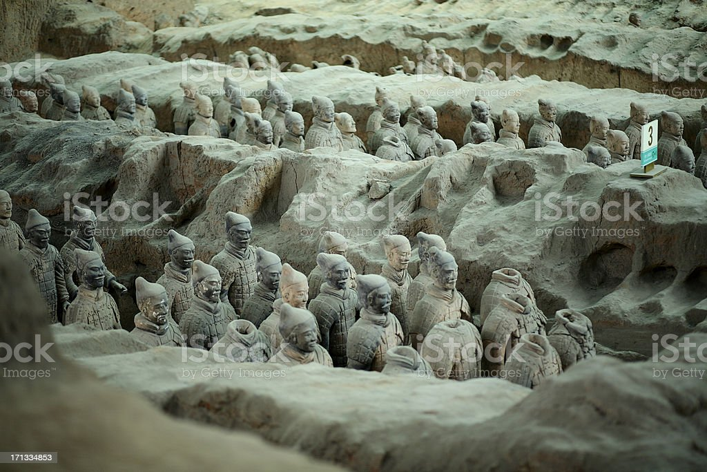 Ancient Terra Cotta Army royalty-free stock photo