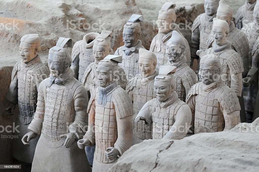 Ancient terracotta clay figures in Xian - China stock photo