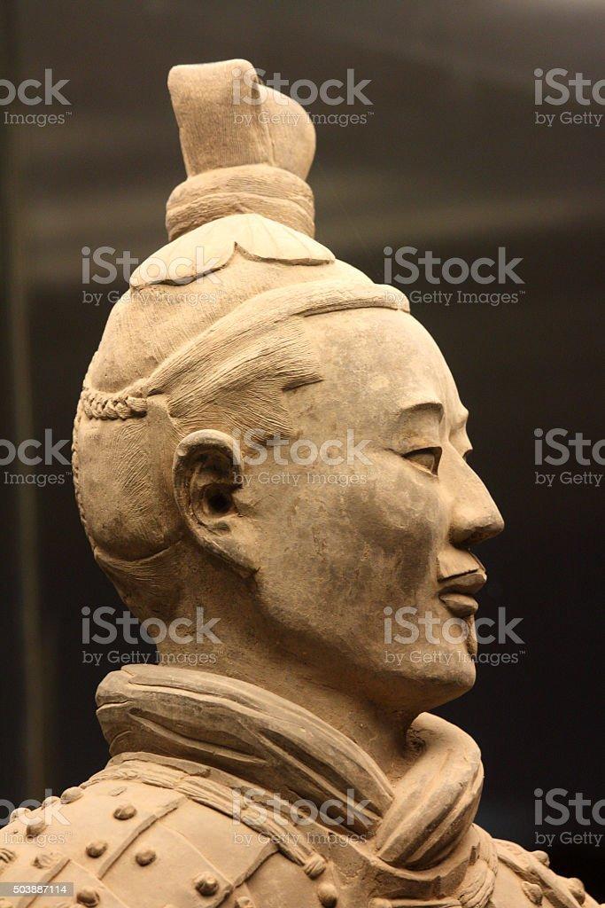 Ancient terracotta warrior stock photo