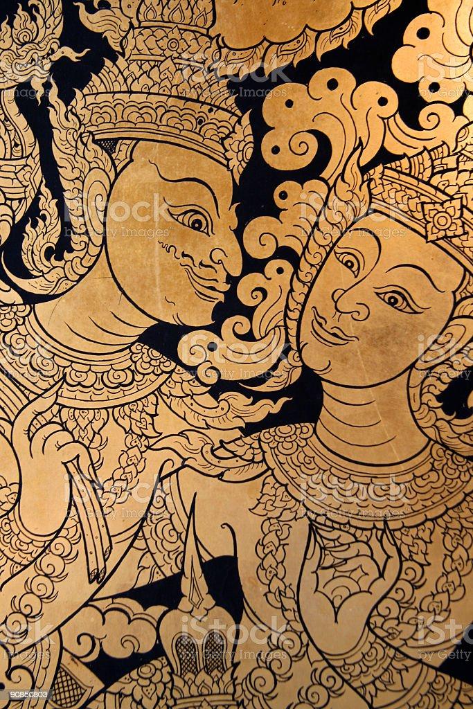 Ancient Thai art royalty-free stock photo