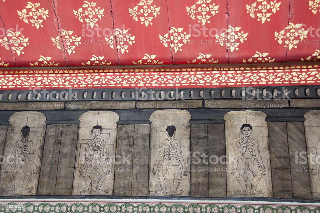 ancient thai massage techniques royalty-free stock photo