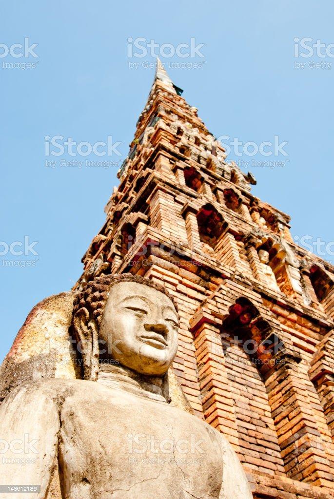 Ancient Thailand Buddha Statue royalty-free stock photo