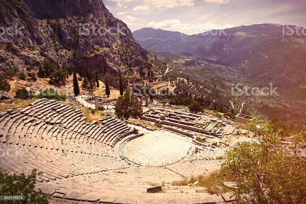 ancient theater in Greece, stock photo