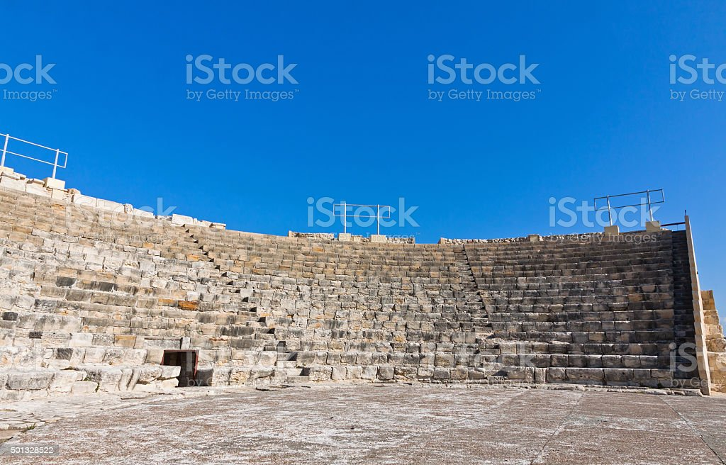 Ancient theater in Kourion, Cyprus stock photo