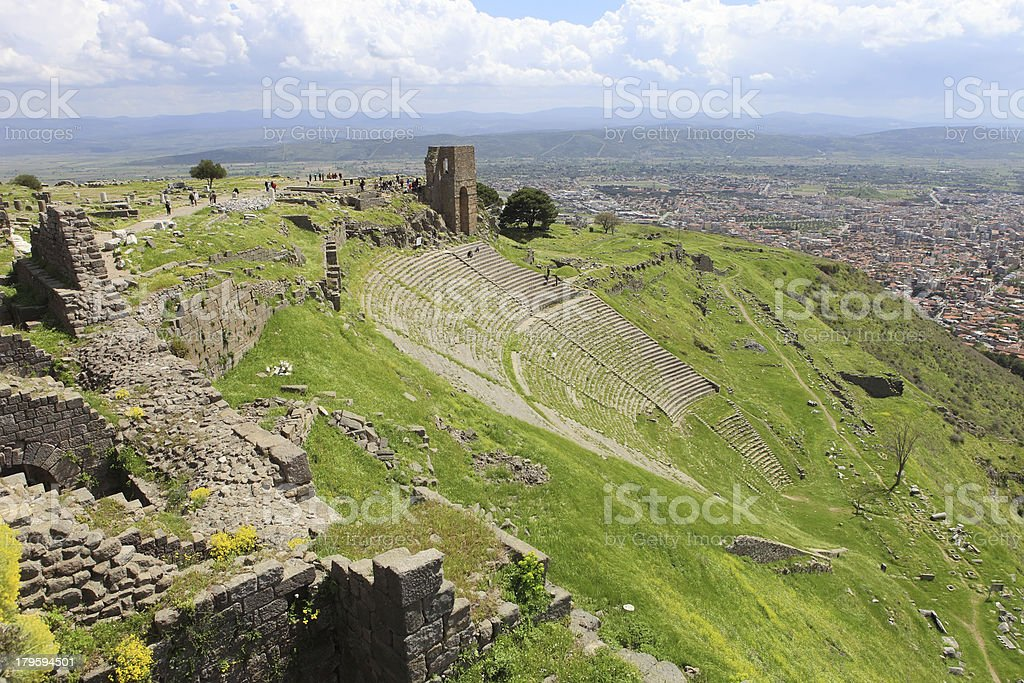 Ancient theater royalty-free stock photo