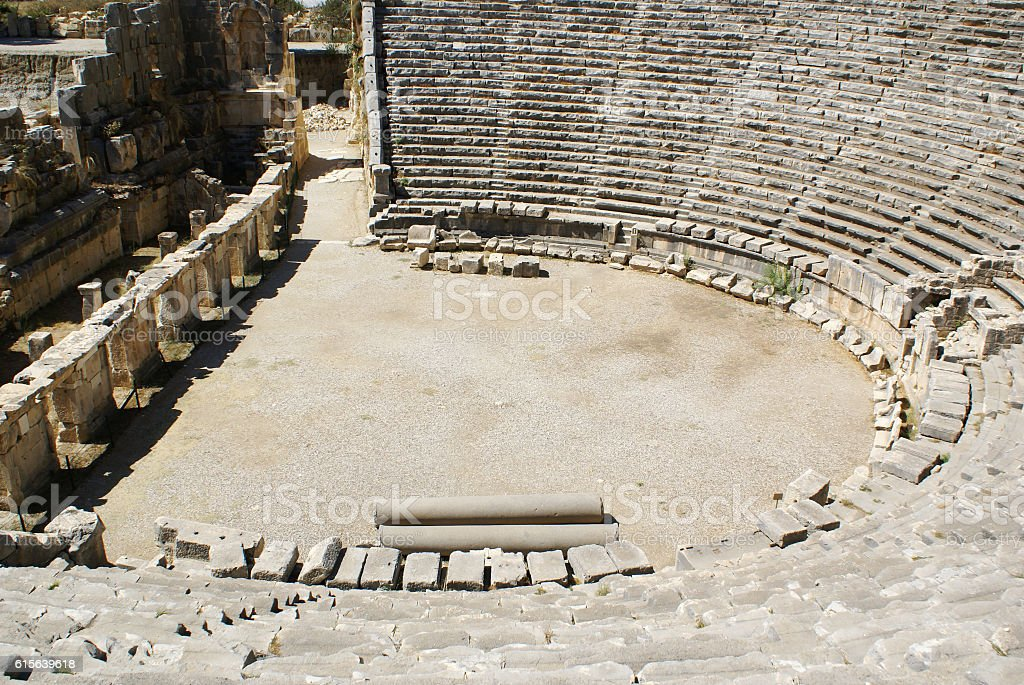Ancient theater. stock photo
