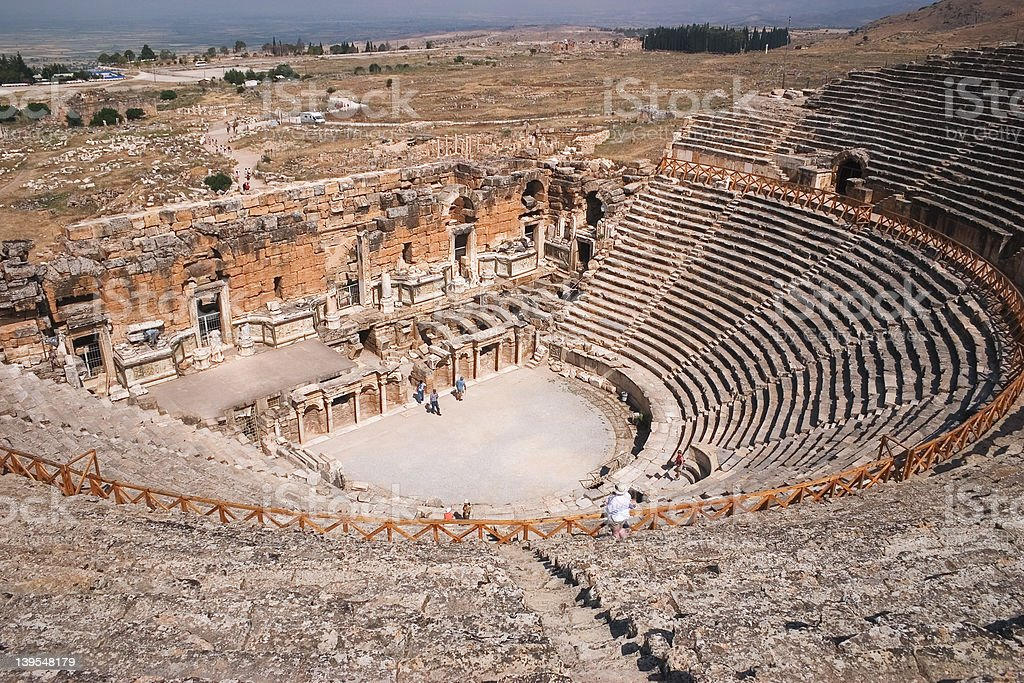 Ancient Theatre, Hierapolis, Turkey royalty-free stock photo