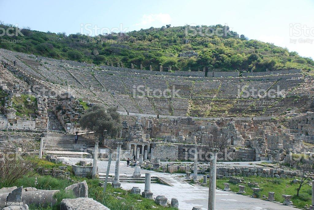 Alte Theater von Ephesos Lizenzfreies stock-foto