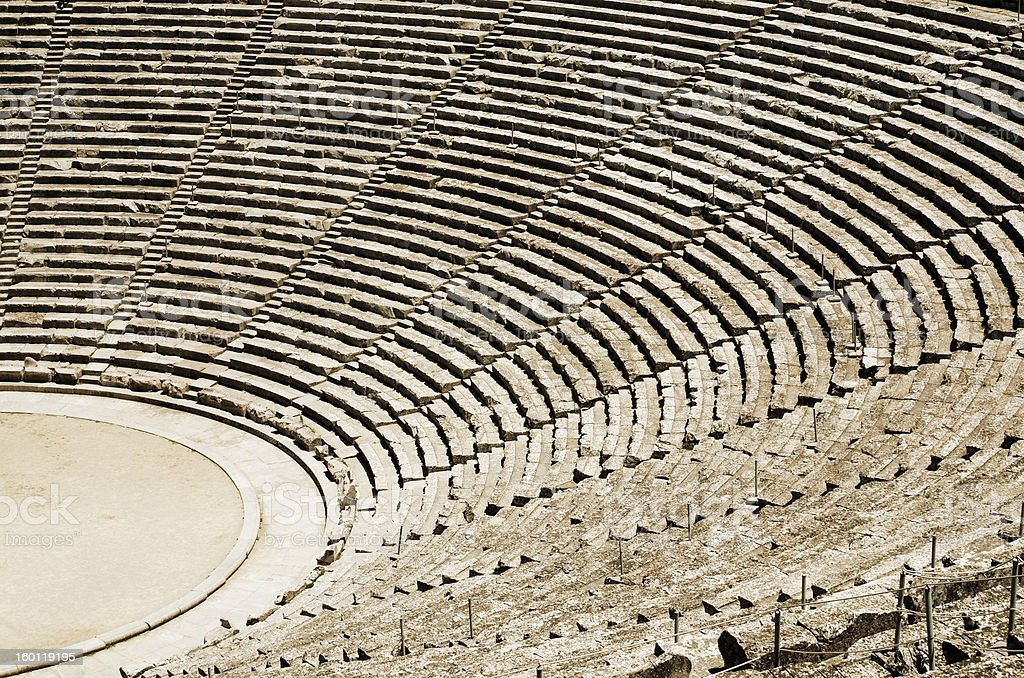 Ancient theatre in Greece royalty-free stock photo