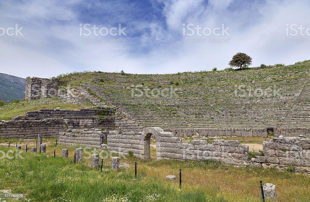 Ancient theatre of Dodoni, Epirus, Greece stock photo