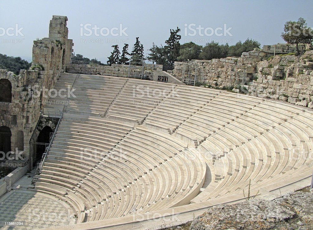 Ancient theatre of Herod Atticus royalty-free stock photo