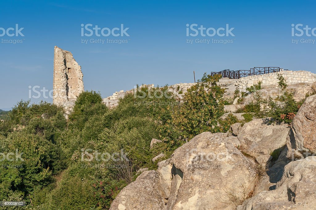 Ancient Thracian archaeological site of of Perperikon, Bulgaria stock photo