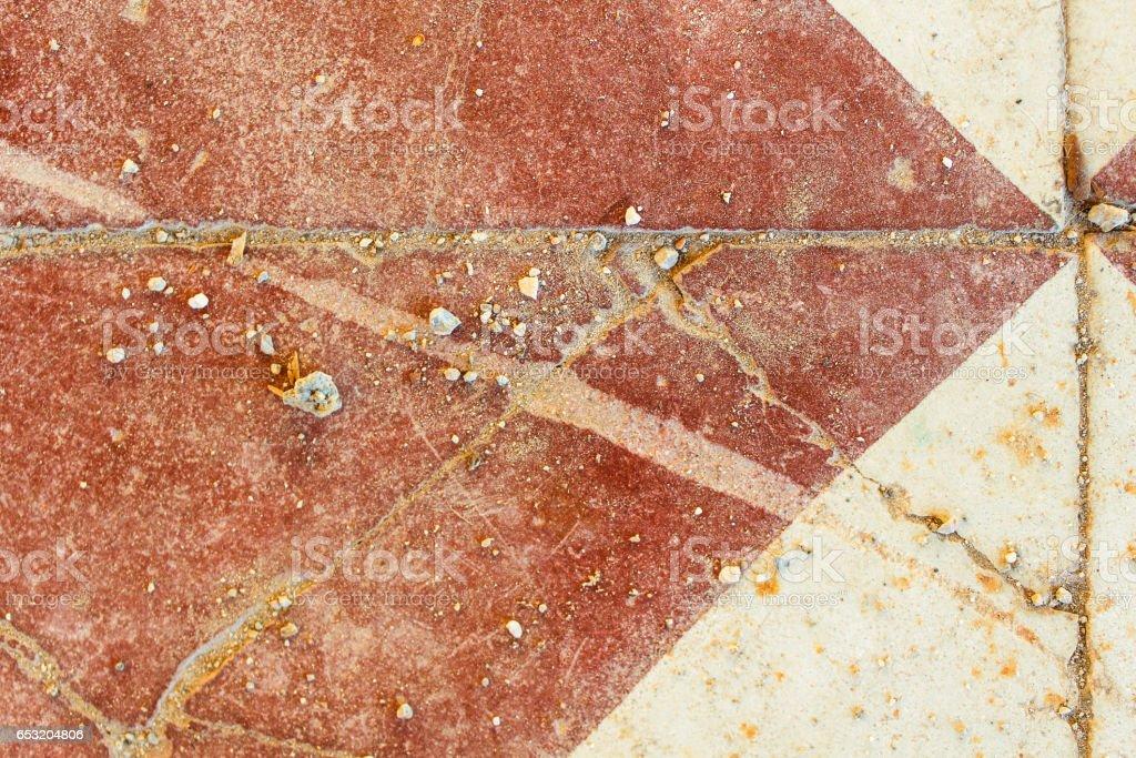 Ancient Tile Floor Detail stock photo