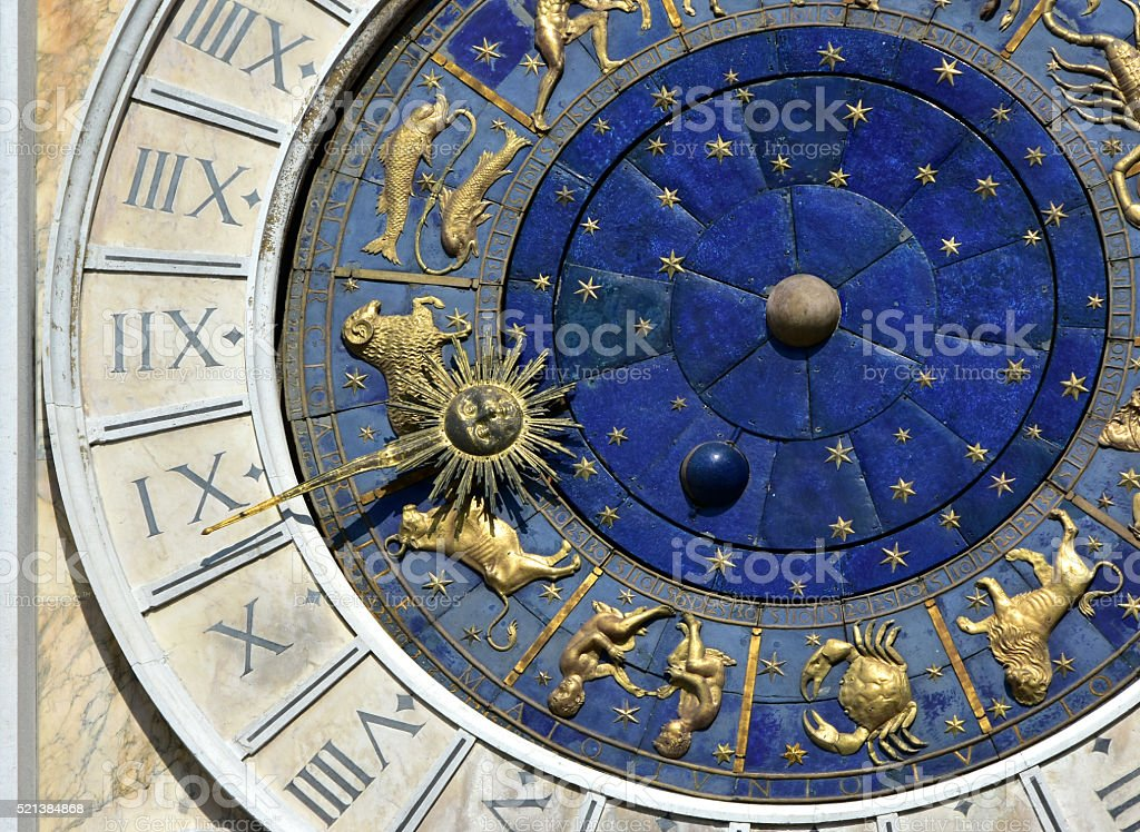 Ancient Time and Astrology stock photo