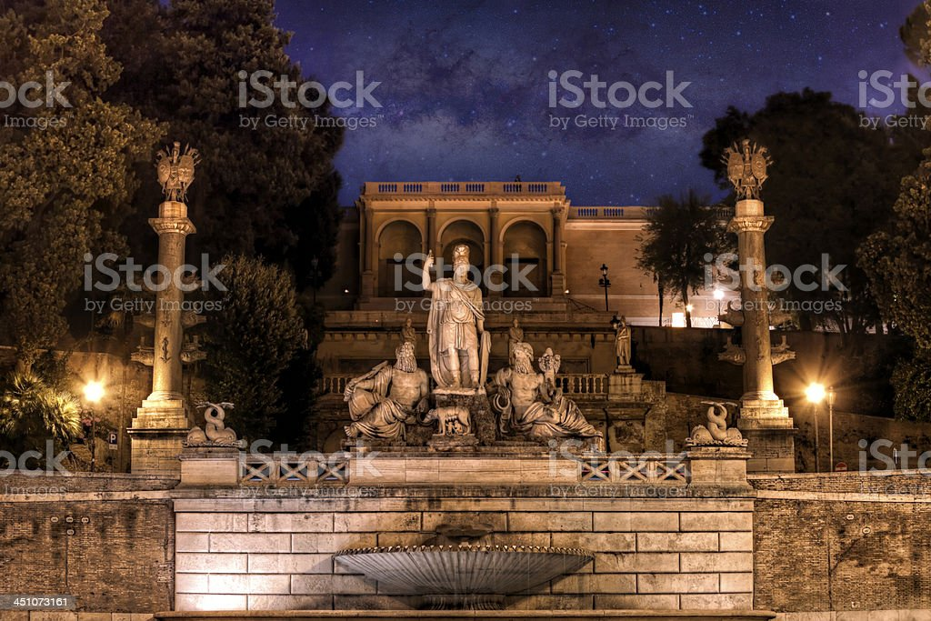 Ancient times in Rome royalty-free stock photo