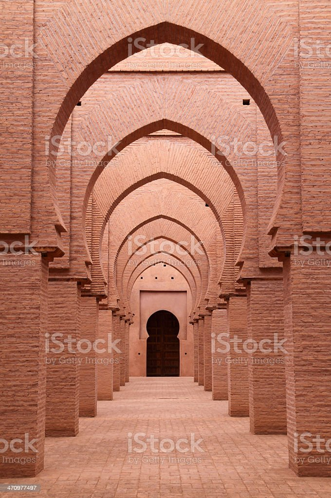 Ancient Tin Mel Mosque in the mountains of Marrakech Morocco royalty-free stock photo