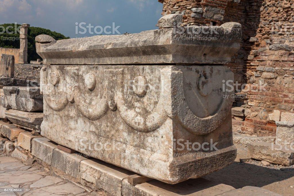 Ancient Tomb Ephesus, Turkey stock photo