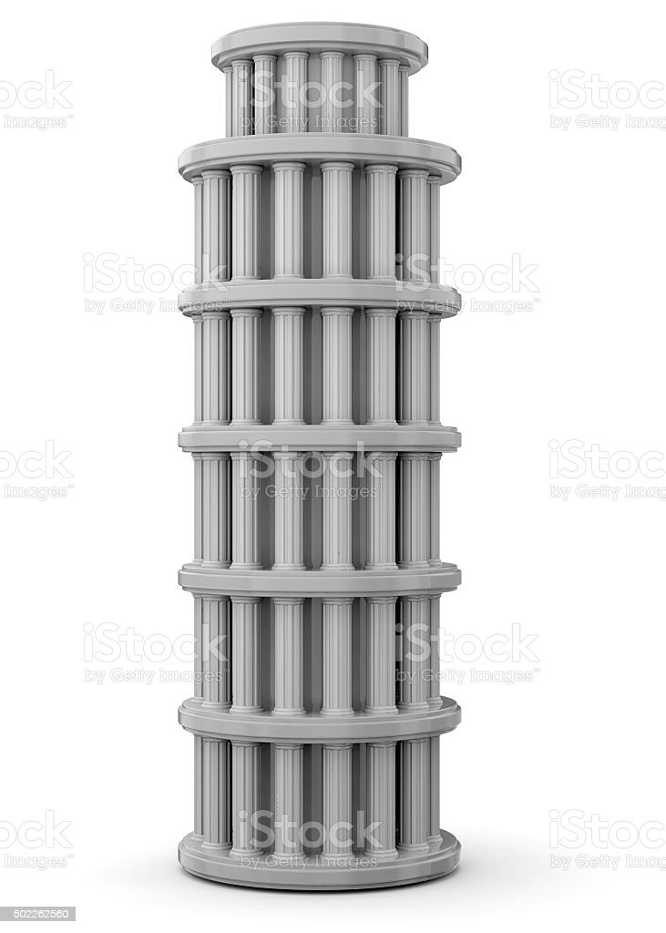 Ancient Tower - 3D stock photo