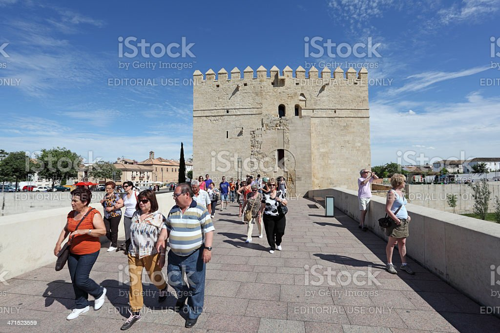 Ancient tower in Cordoba, Spain royalty-free stock photo