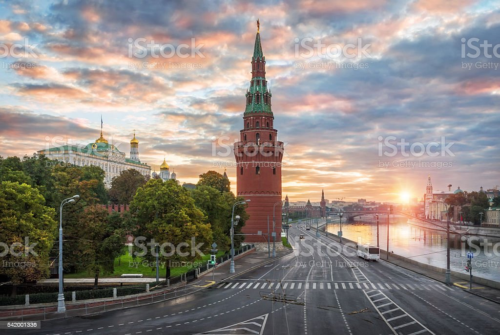 ancient tower of the Kremlin stock photo