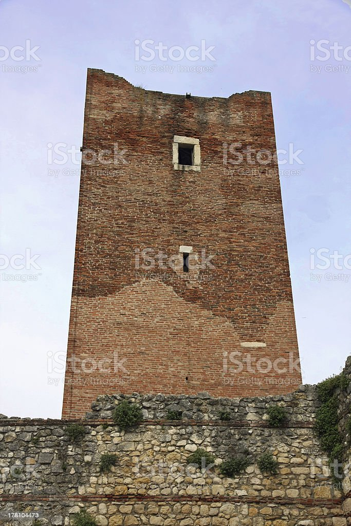 ancient tower ruins stock photo