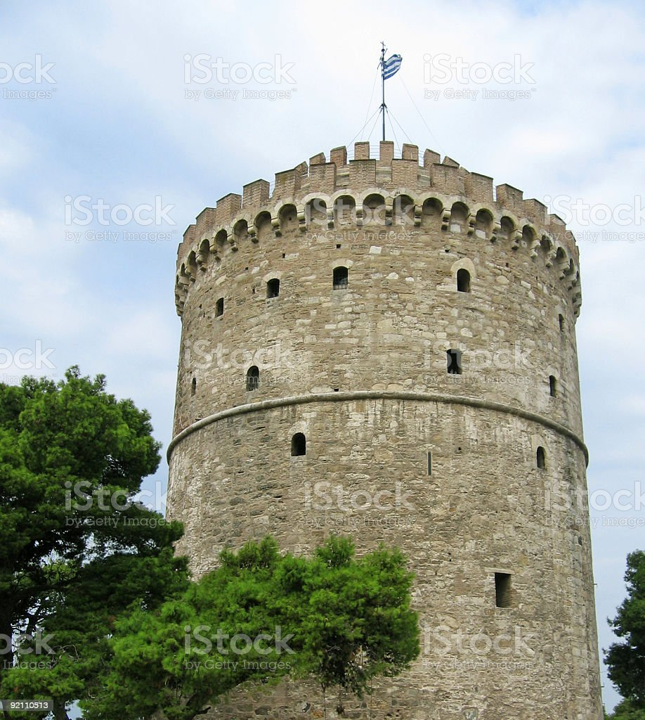 Ancient tower - White Castle royalty-free stock photo