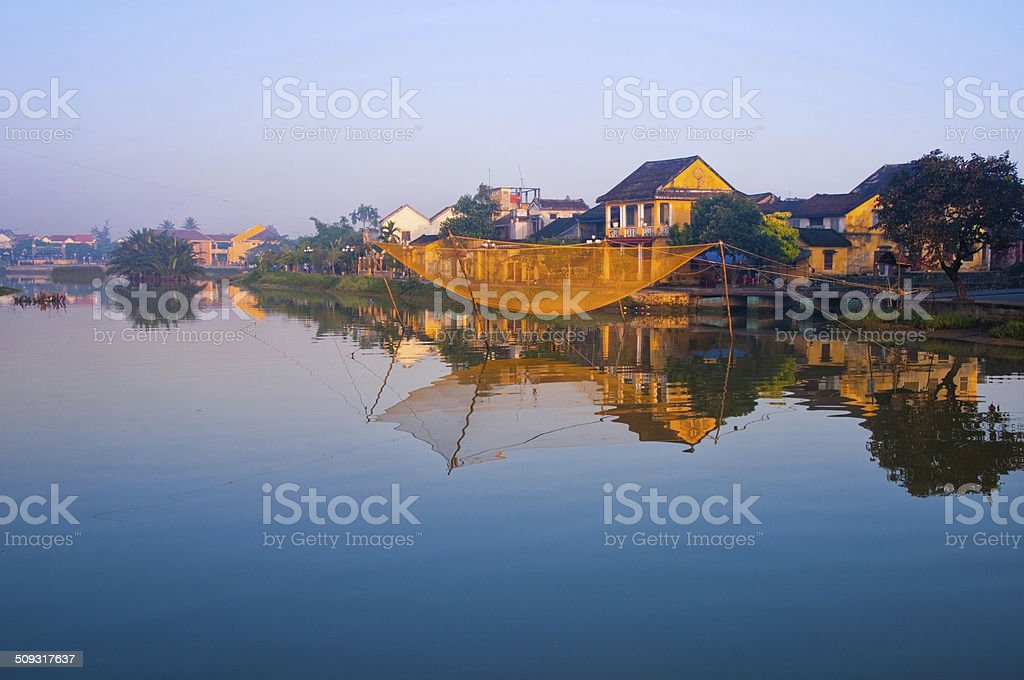 Ancient town Hoi An in Vietnam stock photo