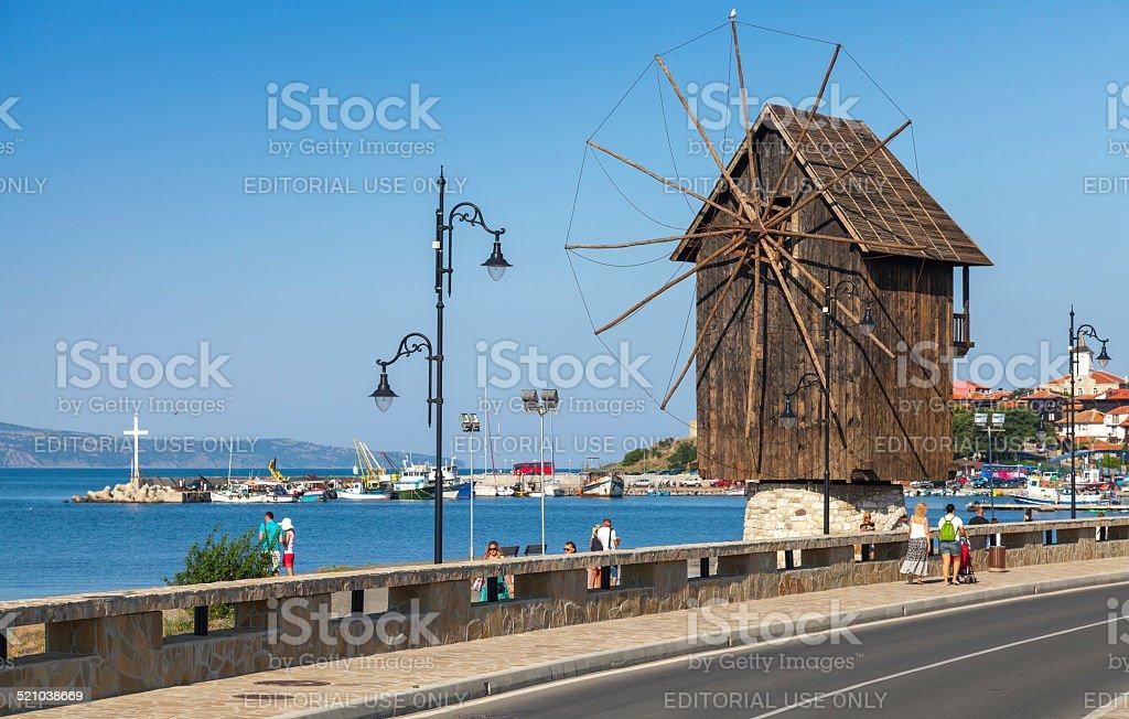 Ancient town Nesebar, Bulgaria. Black Sea coast stock photo